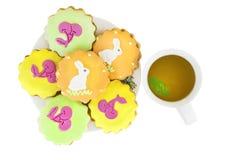 Симпатичное печенье пасхи Стоковое Изображение RF