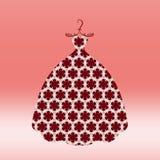 Симпатичное платье для принцессы на грациозно вешалке иллюстрация вектора