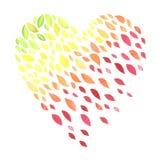 Симпатичное сердце autunm Стоковая Фотография RF