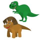Симпатичные динозавры иллюстрация вектора