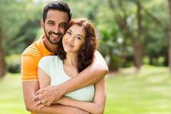 Симпатичные индийские пары Стоковая Фотография