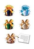 Симпатичные подарки Vector иллюстрации Стоковое Фото