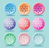 Симпатичные снежинки Значки для дизайна бесплатная иллюстрация
