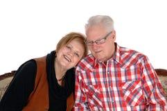 Симпатичные старшие пары в крупном плане стоковое фото rf