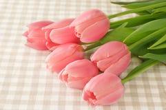Симпатичные цветки тюльпана на таблице, Стоковое Изображение