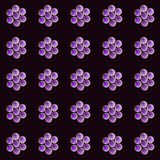 Симпатичные чувствительные цветки разбросали на всем сеть, картина Стоковые Изображения