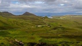 Симпатичный взгляд Quiraing, острова skye стоковая фотография