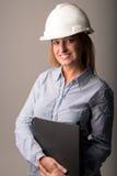 Симпатичный инженер женщины Стоковое Изображение RF