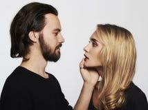 Симпатичный красивый портрет пар женщина красоты и красивый человек Стоковое Фото