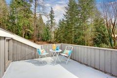 Симпатичный обеспеченный балкон с взглядом q Стоковые Фотографии RF