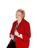 Симпатичный усмехаться более старой женщины Стоковое Изображение RF