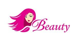 Симпатичный шаблон логотипа девушки Стоковые Фотографии RF