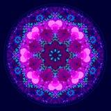 Симпатичный kaleidoscopic орнамент мандалы Стоковая Фотография