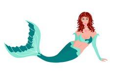 Симпатичный Mermaid Стоковые Фотографии RF