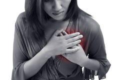 Симптом сердечного приступа стоковая фотография rf