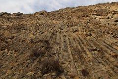 Симфонизм камней или орган базальта в ущелье Garni, Армении стоковое изображение