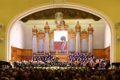 Симфонический оркестр на этапе стоковое фото rf