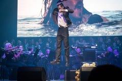 Симфонический оркестр показывает игру тронов в Киеве стоковое фото rf