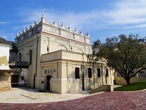 Синагога в Zamosc, Польше Стоковое Изображение RF