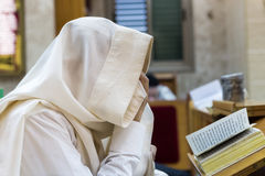 синагога Прочитайте Shema Стоковые Фото
