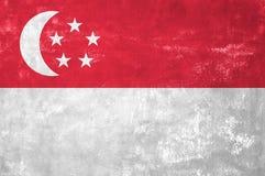 Сингапурский флаг Стоковые Изображения