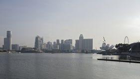Сингапур Взгляд театров бульвара и эспланады лотерей стоковое фото rf