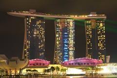 СИНГАПУР - 10,2016 -ГО АПРЕЛЬ: Горизонт для песка залива на Сингапуре Стоковые Фотографии RF