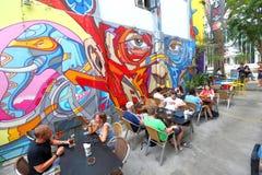 Сингапур: Граффити приближают к майне хаджей Стоковое фото RF