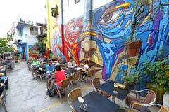 Сингапур: Граффити приближают к майне хаджей Стоковая Фотография RF