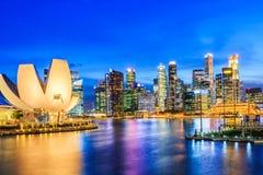 Сингапур, залив Марины Стоковое фото RF