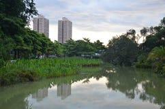 Сингапур: здания от парка Toa Payoh стоковые изображения rf