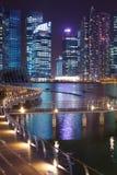 Сингапур к ноча Стоковая Фотография RF