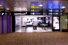 Сингапур: Магазин Монблана авиапорта Changi Стоковая Фотография