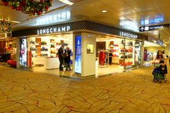 Сингапур: Магазин LongChamp авиапорта Changi Стоковое Изображение
