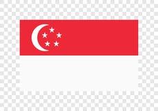 Сингапур - национальный флаг иллюстрация вектора