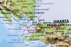 Сингапур на карте Стоковое Изображение RF