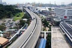 Хайвей западного побережья, Сингапур стоковое изображение