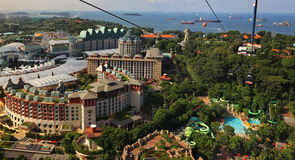 СИНГАПУР - 21-ОЕ ИЮНЯ 2014: Студии Universal Сингапур они Стоковая Фотография RF
