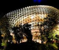 СИНГАПУР - 6-ое мая 2017: Футуристический стеклянный купол Стоковое Изображение
