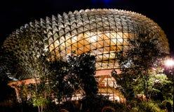 СИНГАПУР - 6-ое мая 2017: Футуристический стеклянный купол Стоковые Фото