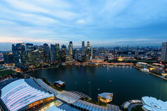 СИНГАПУР - 22-ОЕ НОЯБРЯ 2016: Городской Урбанский ландшафт Сингапура Стоковые Изображения