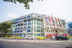 СИНГАПУР, 13-ОЕ ОКТЯБРЯ 2015: красочный СЛЮДЫ строить его был kn Стоковое Фото