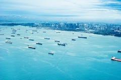 Урбанский ландшафт Сингапура Стоковые Фотографии RF