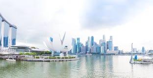 Сингапур 2016 14-ое января - панорама города Стоковые Изображения