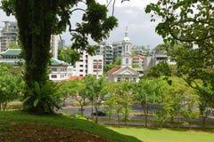 Сингапур от парка форта консервируя Стоковые Фото