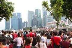 Сингапур празднует национальный праздник SG50 Стоковые Фотографии RF