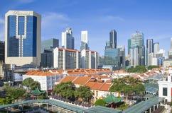 Сингапур финансовый и район Чайна-тауна Стоковые Фото