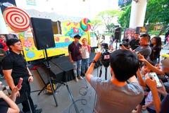 Сингапур: Шоу в прямом эфире Стоковое Фото