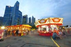 Сингапур: Ярмарка потехи стоковая фотография