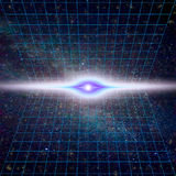 Сингулярность, гравитационные волны и концепция spacetime Деформация времени - замедление времени бесплатная иллюстрация